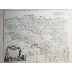Carte de la Bretagne - 1756...