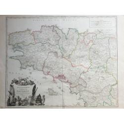 Mapa de Bretaña - 1756 -...