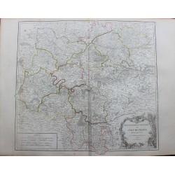 Carte de l'Isle de France -...