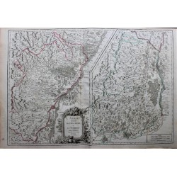 Map of Alsace ... - 1751 -...