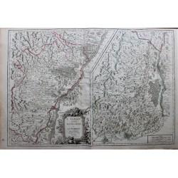 Mapa de Alsacia ... - 1751...