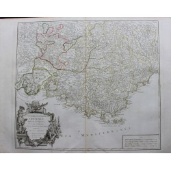 Map of Provence - 1754 - by...