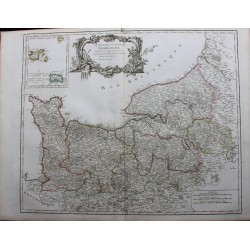 Map of Normandy - 1751 - by...