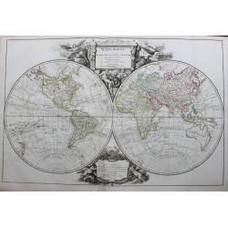 Mapa mundial con rutas y...