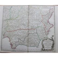 Mapa de los estados del sur...