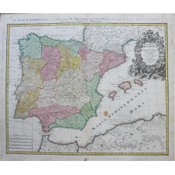 Map of Spain and Portugal -...