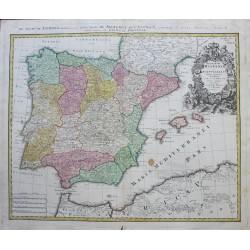 Mapa de España y Portugal -...