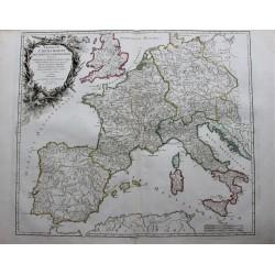 Mapa de Europa - 1752 - por...