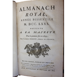 Almanach royal - 1780...