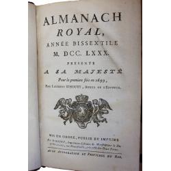 Almanach royal - 1780...