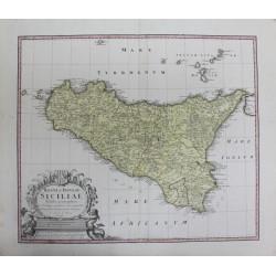 Carte de la Sicile - par...