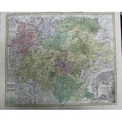 Mapa de Turingia - Alemania...