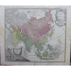 Map of Asia - by J.B Homann