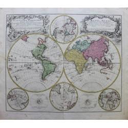 World map - by J.B Homann