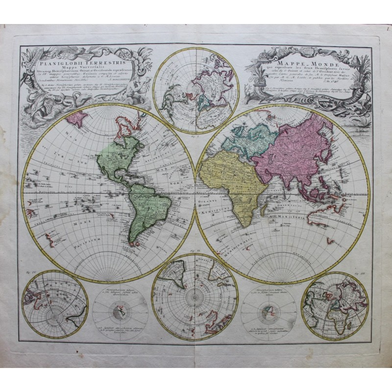 World Map By J B Homann