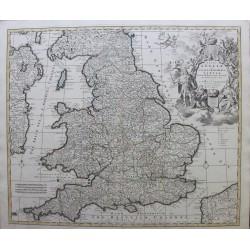 Carte de l'Angleterre - par...