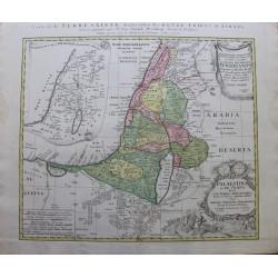 Carte de la Terre Sainte -...