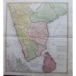 Carte de Malabar - Golfe de...