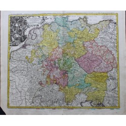 Map of Germany - by J.B Homann