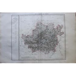 Carte des FORETS (LUXEMBOURG)