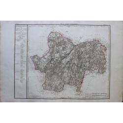 Map of LA SAONE ET LOIRE (71)