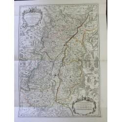 Mapa de Alsacia - 1700 -...