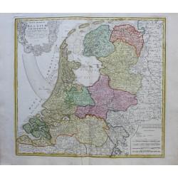 Mapa de Bélgica - 1748 -...