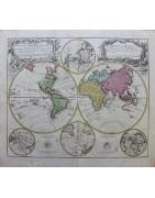 Mapas antiguos originales del siglo 16 al 19